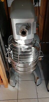 HOBART LEGACY 30QT COMMERCIAL PLANETARY FLOOR MIXER W/ BOWL,SPIRAL & Flat Beater
