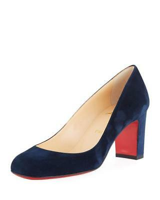 77f78af91798 Christian Louboutin CADRILLA 70 Suede Heels Pumps Shoes Marine Navy Blue   695