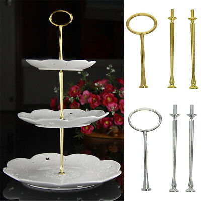3 Tier Cake Cupcake Plate Stand Party Metal Handle Hardware Rod Fitting Holder