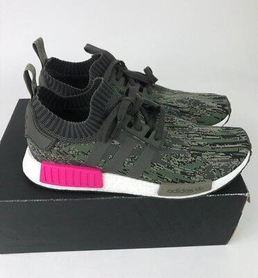 31e4e952e Adidas NMD R1 PRIMEKNIT Glitch Camo Utility Grey BZ0222 Men Size 12 New In  Box