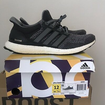 "b7ee06dbc 2014 Adidas Ultra Boost OG LTD ""Mystery Grey"" 1.0 Size 12 Great Condition  Rare"