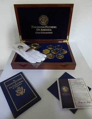 The Founding Fathers Of America Medallion Collection - Franklin Mint $175