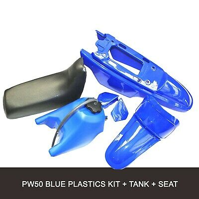 BLUE PLASTIC FENDER Body Kit for Yamaha PW50 PY50 PEEWEE 50 Pit Bike USA  SELL
