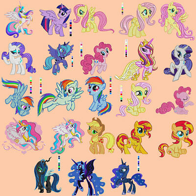 Embroidery designs 23 my little pony Link to download pes 4x4