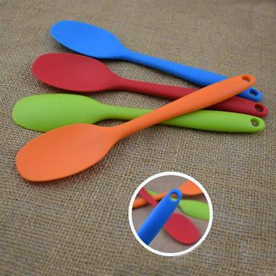 1 Pc Silicone Spoon Mixing Utensil Cake Putty Spatula Bakeware Tableware Kitchen