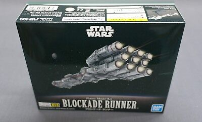 Star Wars Vehicle Model 014 Blockade Runner (New Hope) Model kit Bandai Japan***