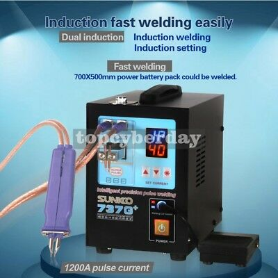 737G+ Spot Welder 220V 4.3KW Welding Machine + S-70BN Pen for 18650 Battery