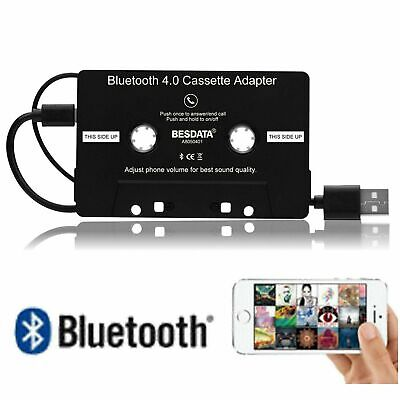 Adapter Converter For iPhone iPod MP3 MP4 Audio AUX Car Bluetooth Cassette Tape
