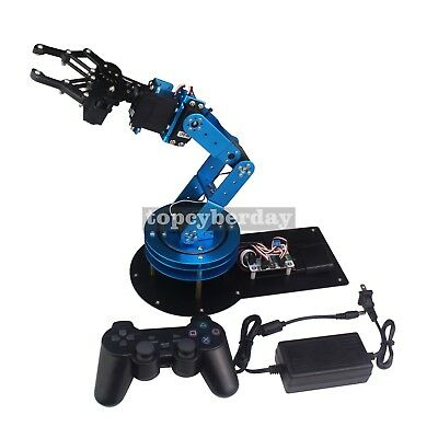 LeArm 6DOF Mechnical Robotic Arm with 6PCS Servos & PS2 Control Unassembled