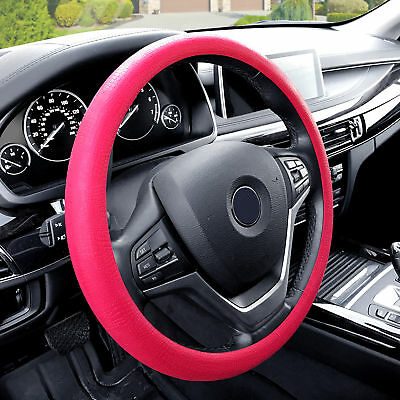 Silicone Steering wheel cover Python Snake Skin Design Pink for Auto