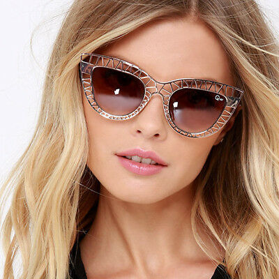 0a1060006e216 Quay Australia Steel Cat Kitti Sunglasses Metal Cat Eye Silver - 100%  Authentic