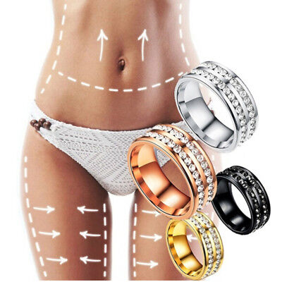 Weight Loss Crystal Rhinestone Ring Slimming Healthcare Ring Magnetic Jewelry X