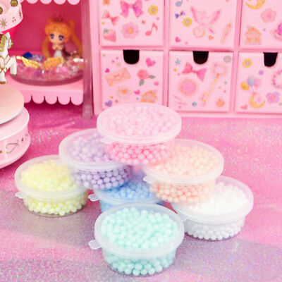 2Pcs 4-6mm diy slime box snow mud particles accessory foam fillers toys for ki X