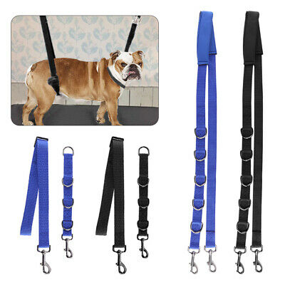 3 Pcs Pet Dog Grooming Harness Strap Noose Restraint Belly Pad Nylon Useful