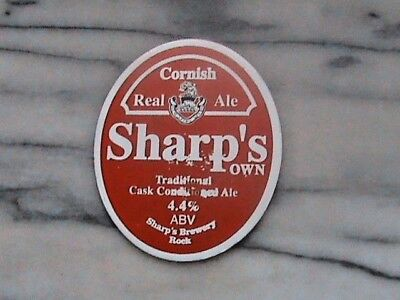 Sharp's Sharp's Own real ale beer pump clip sign