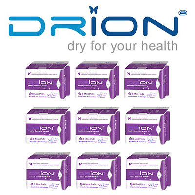 DRION Negative Ion Far Infrared Menstrual MAXI (NIGHT XL) MATERNITY PADS 9 PACK