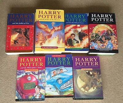 Harry Potter Books Bundle Complete Set 1-7 J.K. Rowling Some First Edition