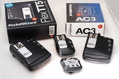 PocketWizard TTL 4-Pack Flex TT5 Mini TT1 AC3 Controller - CANON
