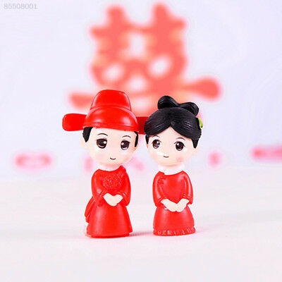 C06E Mini Doll Lovers Cute Beautiful Decoration Desk Party Collection Red 2pcs