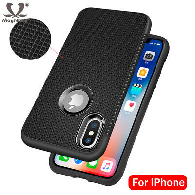 Shockproof Armor Case For iPhone XS Max XR 6 7 8 Soft Silicone Matte Cover Case