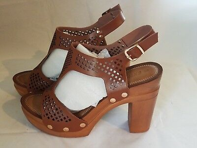 df2fff6374c Extreme by Eddie Marc Womens Renata Heeled Sandals - Size 9 - Brown - NEW