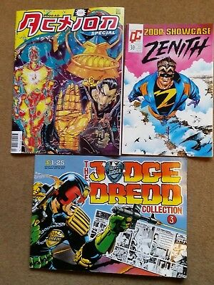 3x 2000AD Judge Dredd Comic/Graphic Novels 1992 Action special/Daily Star Strips