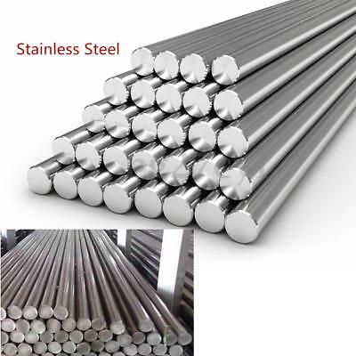 Stainless Steel 304 Round Metal Bar Solid Rod Dia 3-14mm Length 125mm-500mm