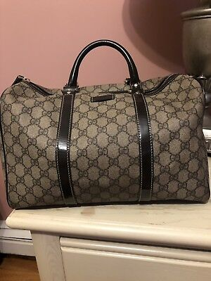 bad98ada2a9 AUTHENTIC VINTAGE GUCCI Duffel Bag Carry On Travel Bag Suitcase ...
