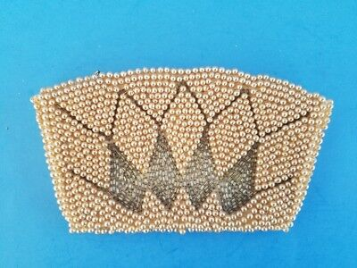 Vintage Beaded Small Clutch Coin Purse Hand Made N.K.K. Japan