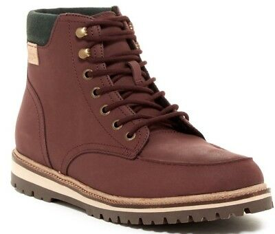 b956289dfe1a8 NWT  220 Lacoste Men s Montbard Leather Winter Boots Shoes Dark Brown Size  8.5