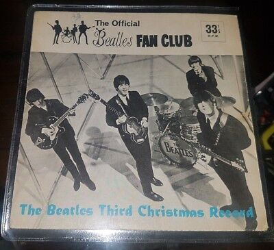 The Beatles Third Fan Club Flexi Disc Cover Only