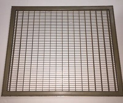Vintage Coleman Large Heavy Furnace Louvered Floor Grate Register Shoe Scraper