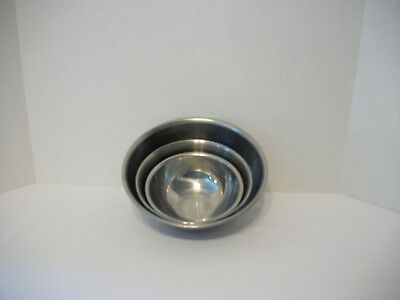 Vintage Stainless Steel Mixing Bowls-Set Of 3, Korea