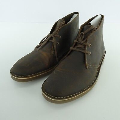 f26a732c062 CLARKS MEN'S BUSHACRE 2 Desert Boot Beeswax Dark Brown Leather Size 10 M US