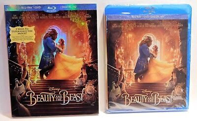BEAUTY AND THE BEAST Disney Emma Watson Dan Stevens Blu-ray DVD Digital HD New