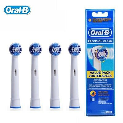 Braun Oral-B PRECISION CLEAN  Replacement Electric Toothbrush Heads - 4 Pack