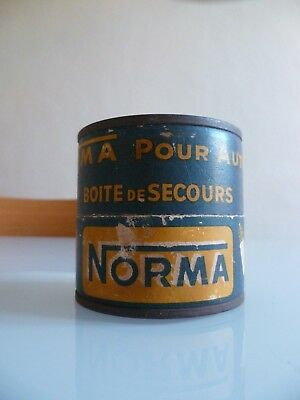 Ampoules Auto Collection Norma  Boite Tole Litho Pub Ancienne Tin Box
