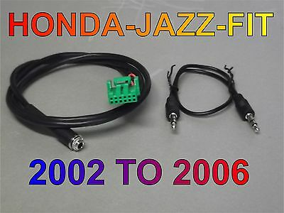 Aux Cable Honda Jazz Fit Aux Cable Mp3 Iphone 2002 2006 First