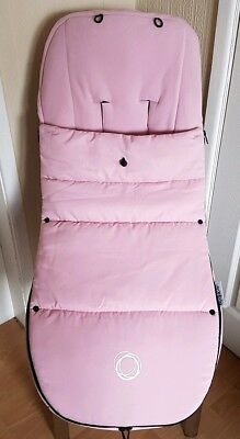 Bugaboo soft pink universal cosytoe / footmuff with toggle fits donkey cam etc