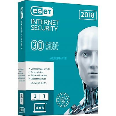 Eset internet security version 12 3 PC  -2 AÑOS (3 users / 2020 )