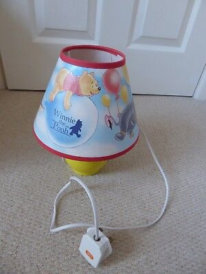 Winnie the Pooh bedside lamp and lampshade