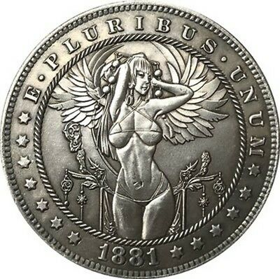 Hobo Nickel USA Morgan Dollar Hot Winged Girl COIN