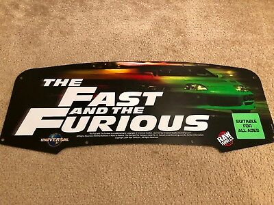 Fast and the Furious Translight Marquee Raw Thrills Arcade