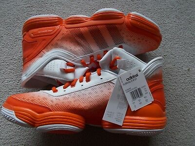 adidas team signature heat check basketball shoes trainers orange uk 13.5 new