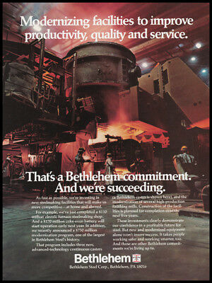 Bethlehem steel print ad 1981 photo continuous caster