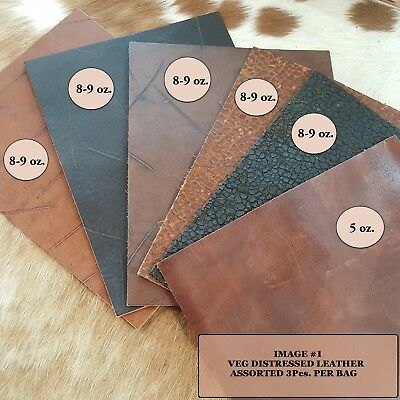 """Natural Veg Tan Cowhide Tooling Leather Pre-Cut Project Piece 8.5/"""" x 11/"""""""