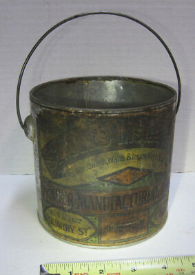 Early Senour Manufacturing Snow White Inside Paint Can 1884-1903 Martin Chicago