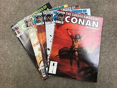 Lot Of 5 The Savage Sword Of Conan Marvel Magazines(1)