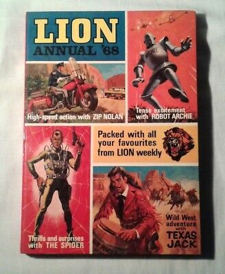 Lion boys action comic Annual '68 (hardback 1967) good condition