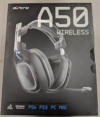 Astro A50 Black/Blue Wireless Gaming Headband Headsets for Multi-Platform